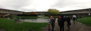 A view of the reflection pond (featuring Emma and Eric!)